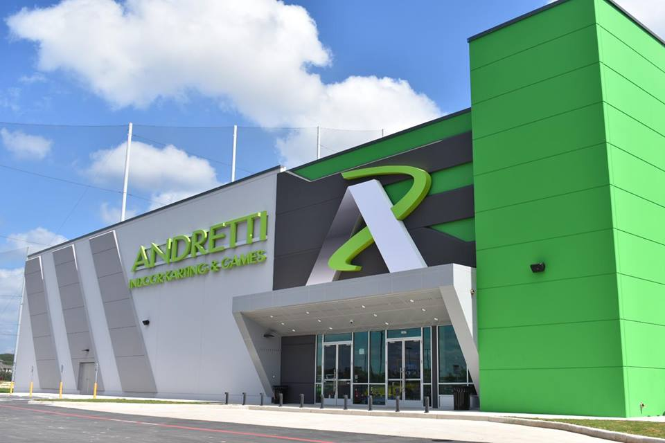 Andretti Indoor Karting and Games front entrance building exterior