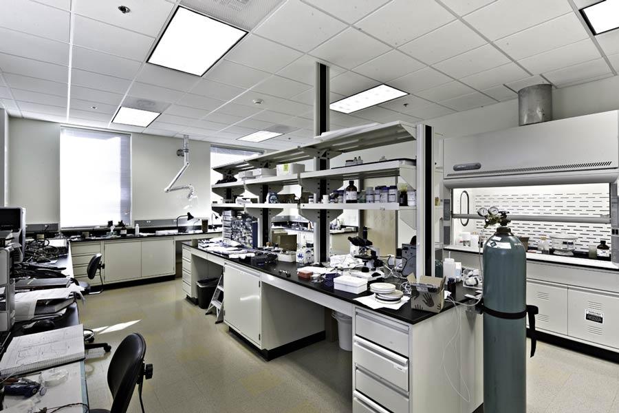 Arkansas Research Technology Park lab room interior