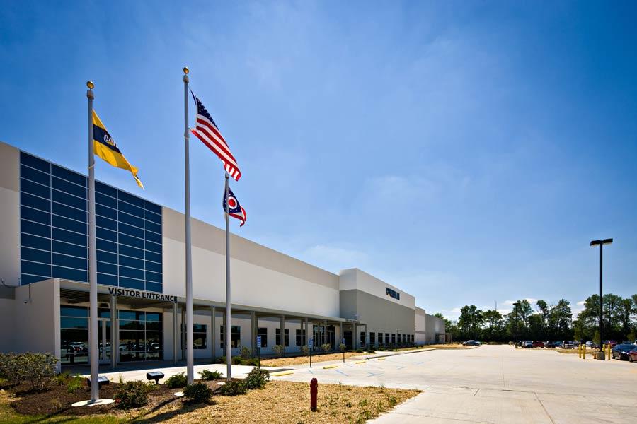 Caterpillar Distribution Center front entrance building exterior