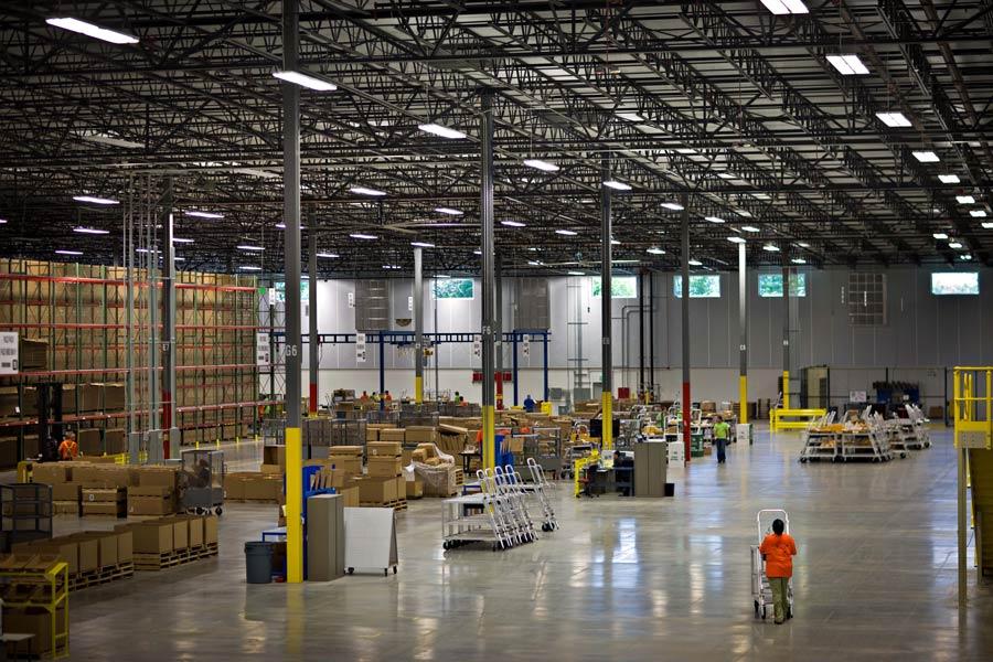 Caterpillar Distribution Center interior warehouse