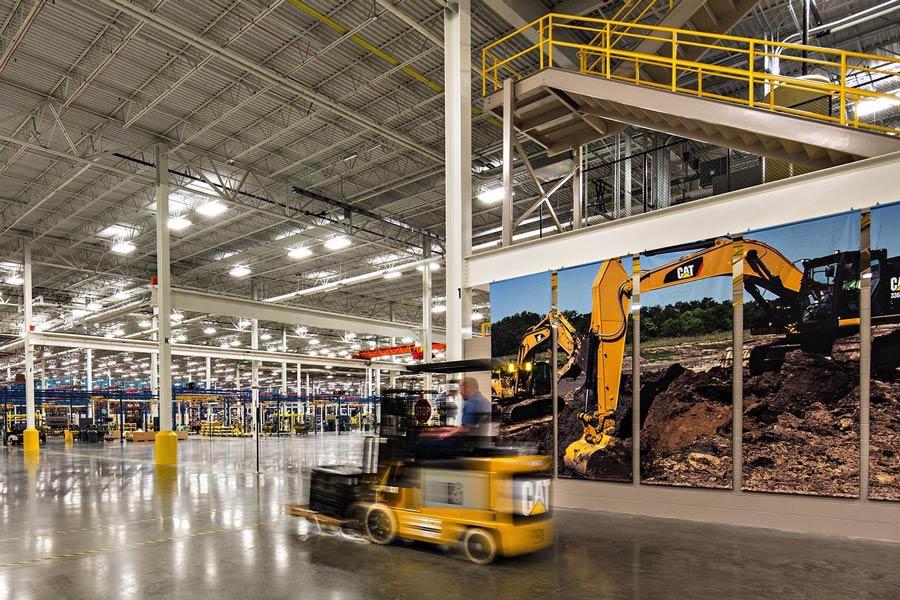 Caterpillar Hydraulic Excavator Facility building interior