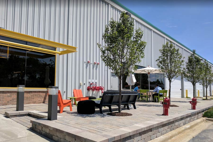 Creative Werks building exterior rest area