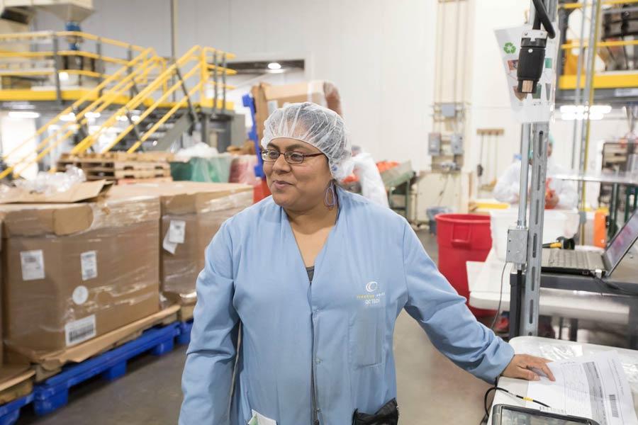 Creative Werks employee in warehouse