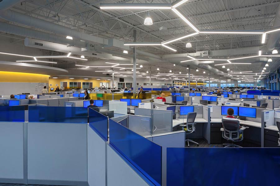 Express Scripts office with cubicles interior
