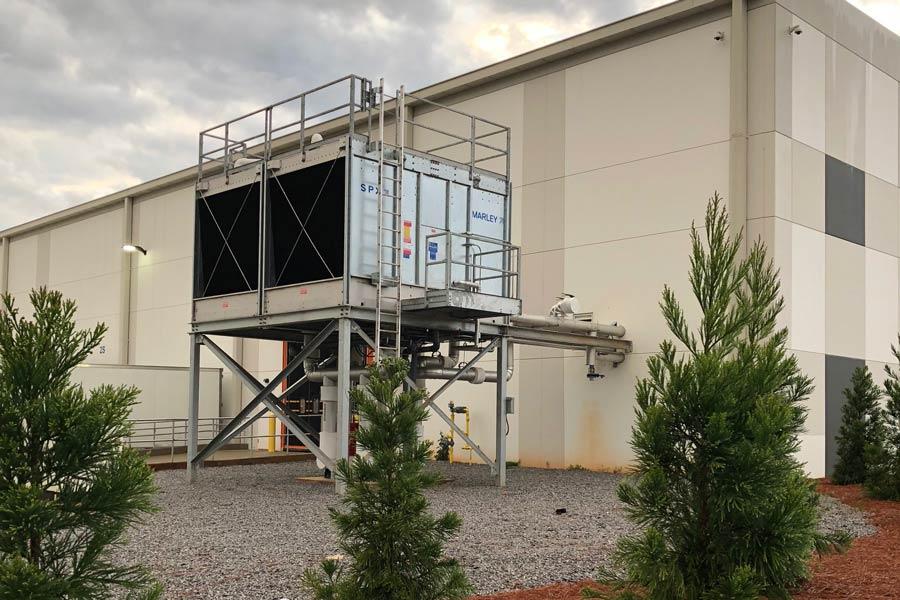 Gestamp HVAC system on building exterior