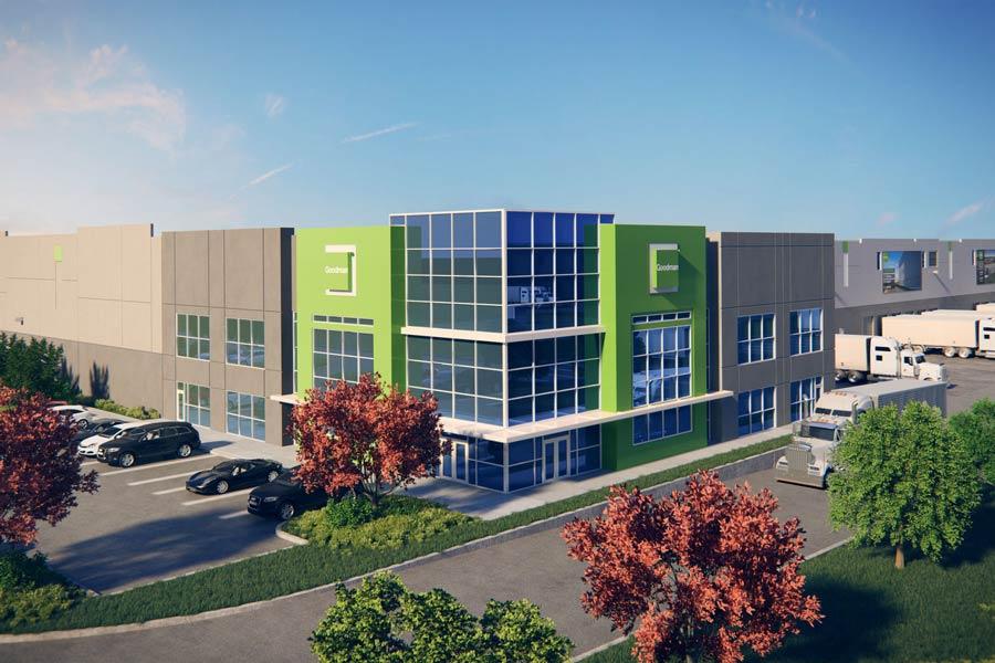 Goodman Logistics Center II building exterior rendering