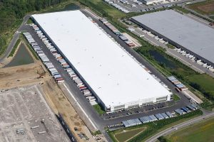 Drone view of Groveport Warehouse building exterior