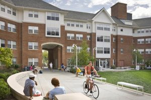 Herman Dorothy Johnson Residence Hall campus exterior