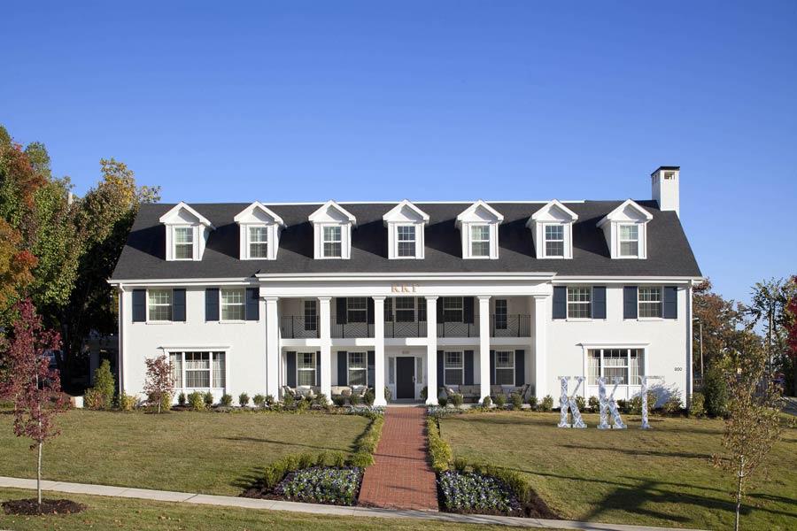 Kappa Kappa Gamma House Front view of exterior