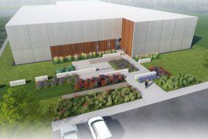 OGE Operating Center building exterior rendering
