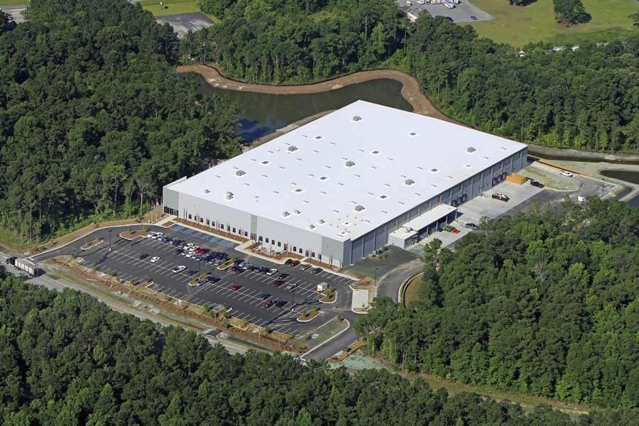 Wabco Compressor Manufacturing Drone view of building exterior